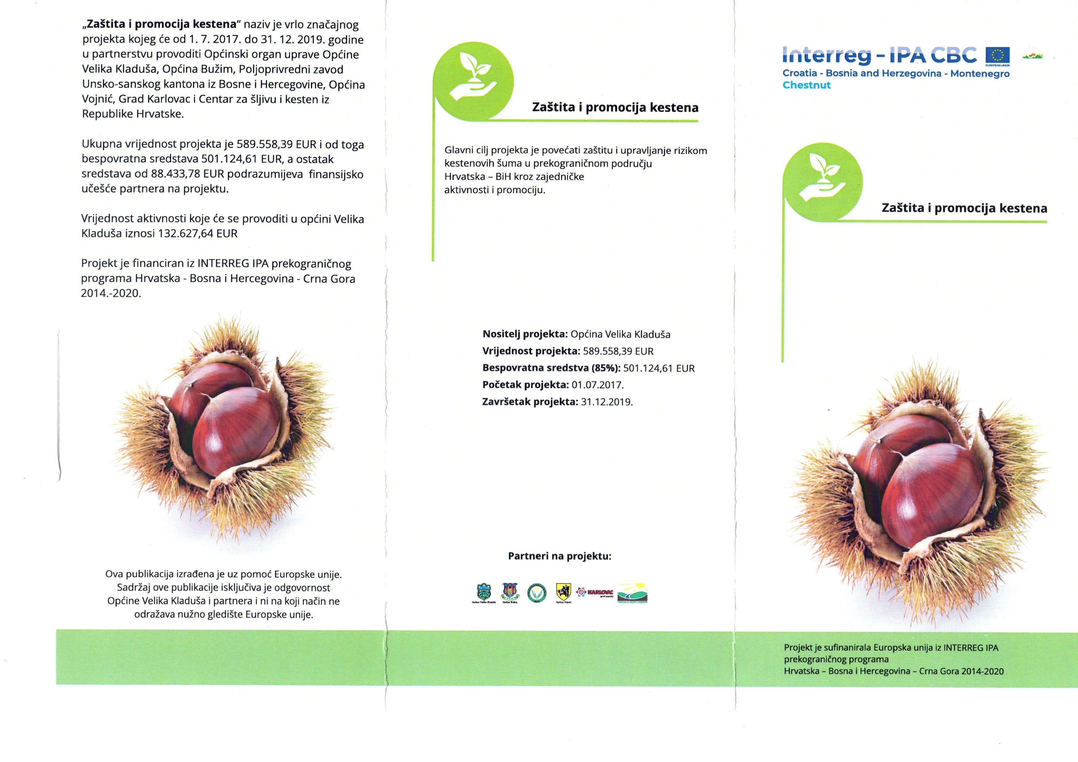 Studije održivih ekoloških i gospodarskih potencijala kestena