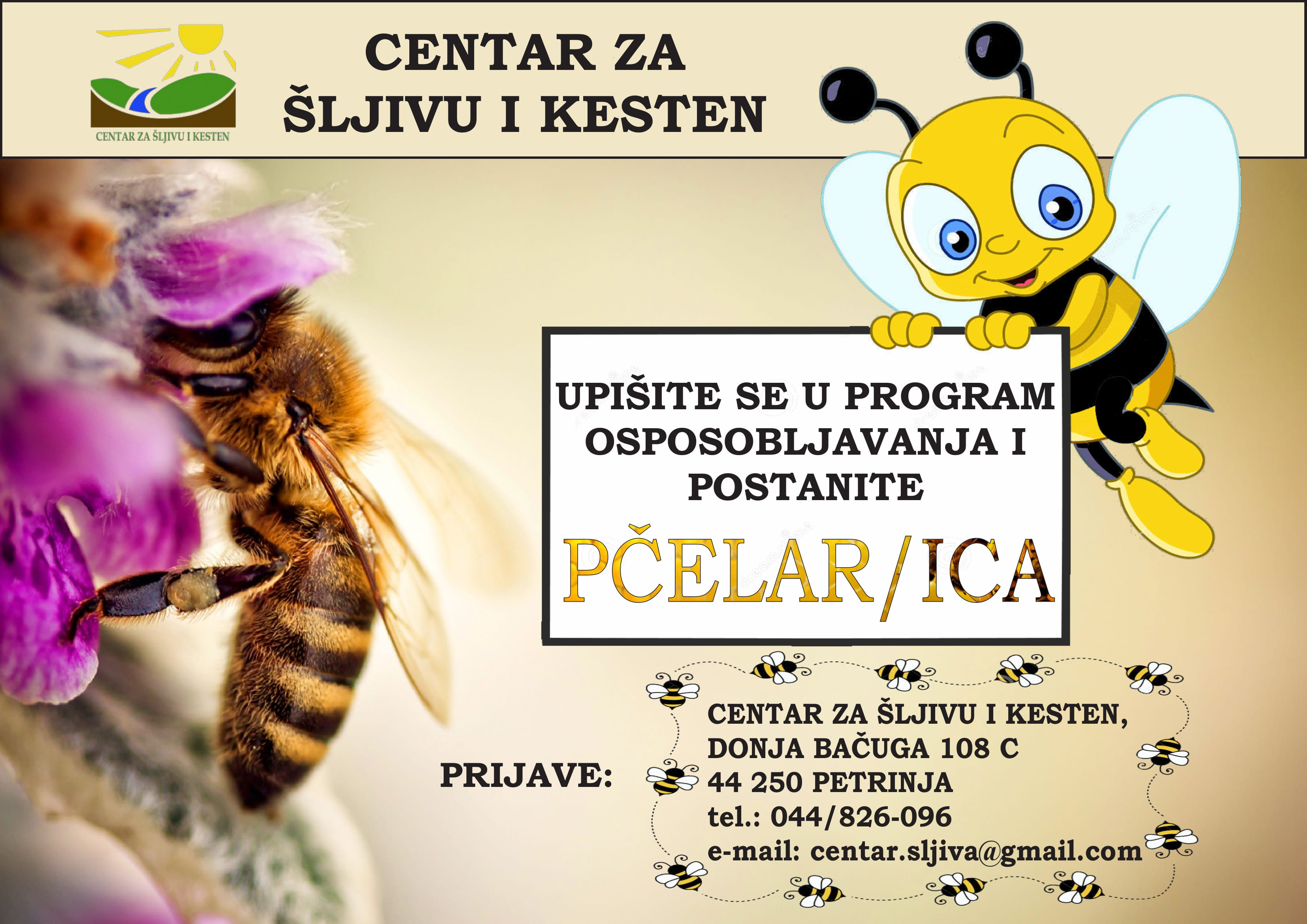 Upišite se u program osposobljavanja i postanite – PČELAR