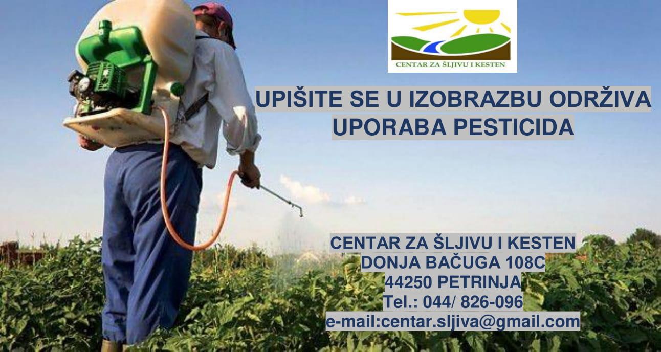 Upišite se za izobrazbu održiva uporaba pesticida